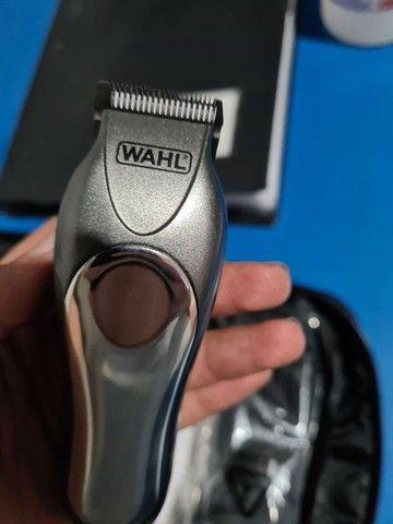 Máquina de cortar cabelo wahl groom deluxe pro barbeiro salão curso - Foto 3