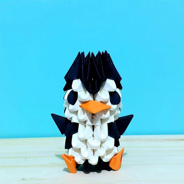 3x Origami De Pinguim. Duas Peças Mais Uma Grátis! - Foto 5