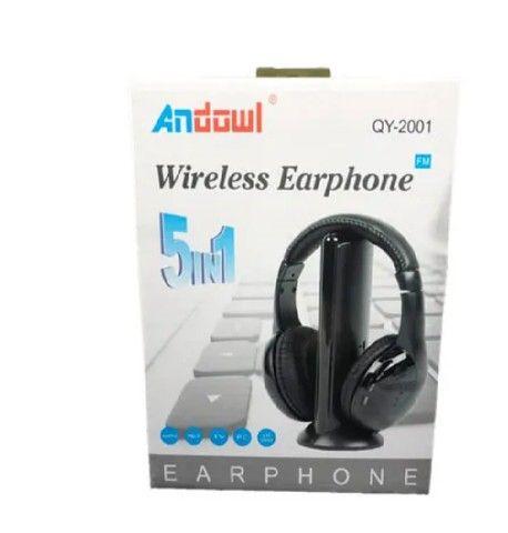 Earphone  5x1 Sem Fio Hi-fi Bluetooth Headphone, Tv, Rádio, novo na caixa e sem uso - Foto 2