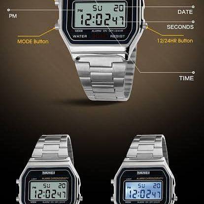 Relógio skmei digital retrô estilo cassio - Foto 5