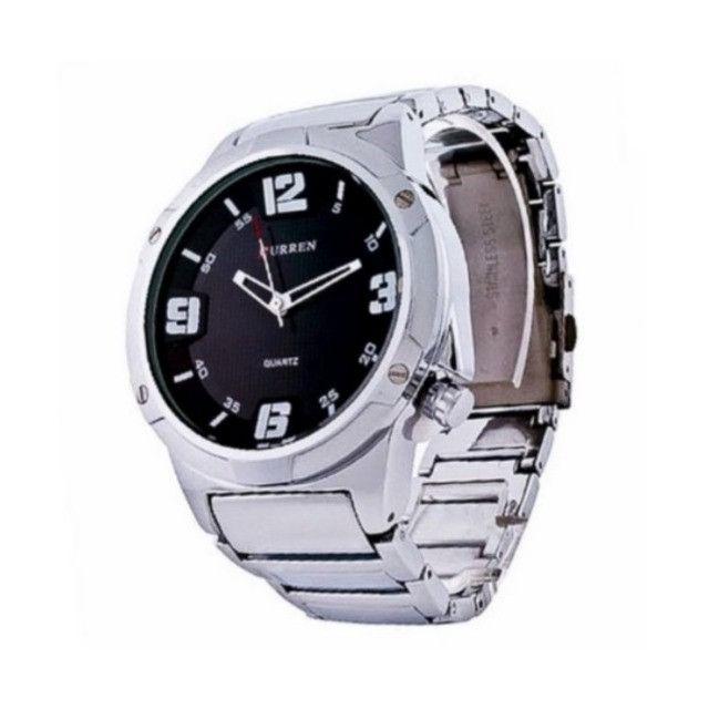 Relógios Curren 8111 Branco e Preto Resistente á água Analógico - Foto 2