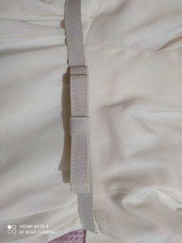 Vestido de noiva perolado finíssimo de grife novo! - Foto 4