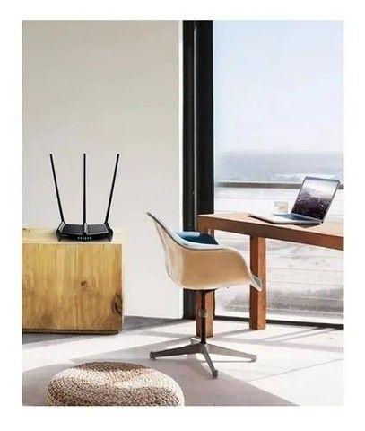 Roteador Tp-Link Sem Fio Wr941hp  450mb Wireless 3 Antena Fura Parede - Loja Natan Abreu  - Foto 3