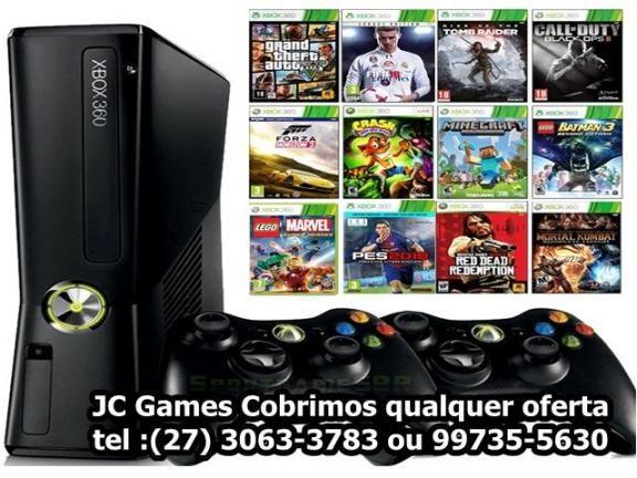 Xbox360 2500 jogos ( HD Interno Original ) Somos loja fisíca /com garantia