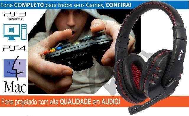 Fone De Ouvido Headset Game Usb Microfone Knup Kp-359
