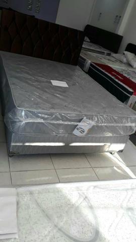 Conjunto box casal com colchão ortopédico D33 R$ 1299 em até 10x nos cartões