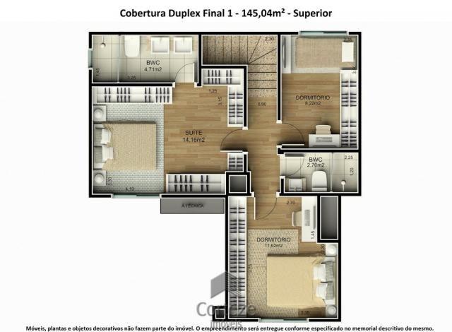 Cobertura duplex 3 quartos no Água Verde - Foto 17