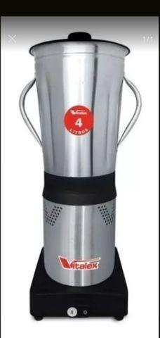 Liquidificador Triturador Industrial 4 Litros Inox Inmetro novo
