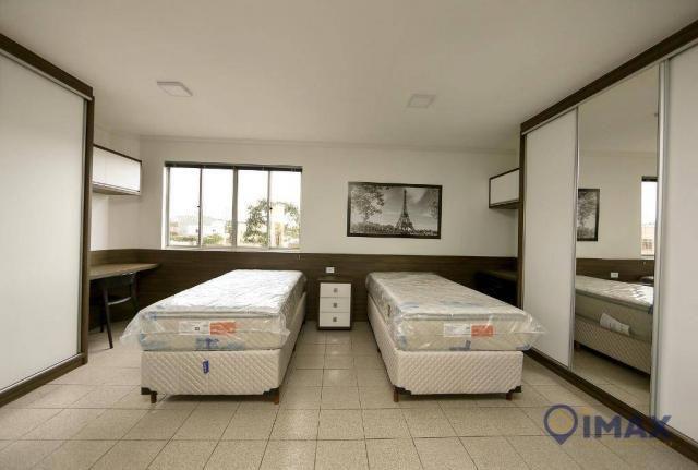 Apartamento com 1 dormitório para alugar, 45 m² por R$ 1.500,00/mês - Centro - Foz do Igua - Foto 3