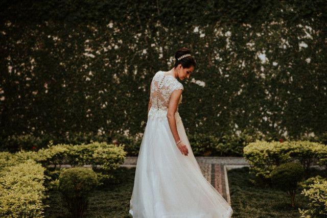 Vestido de Noiva Stephanie Cachapuz em Pérolas - Foto 4