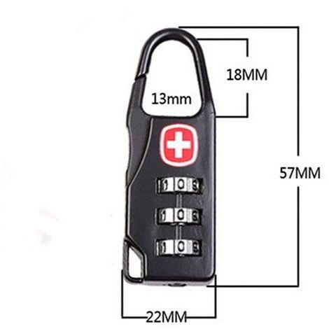 Cadeado Suiço - Kit com 5 unidades - Foto 2
