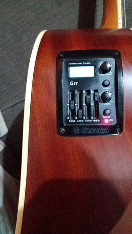 Vendo violão Gianini  eletroacústico em estado de novo  - Foto 4