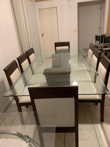 Conjunto de Mesa e Cadeiras, para sala de jantar, 8 lugares, Venus Castanho Nobre - Foto 2