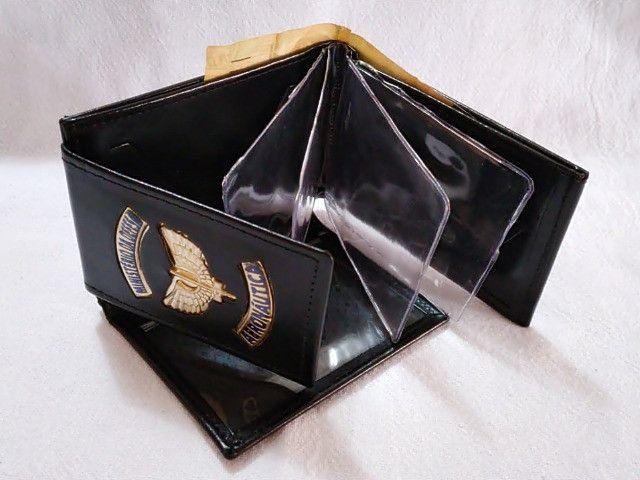 Carteira em couro da Aeronáutica (emblema) - Foto 3