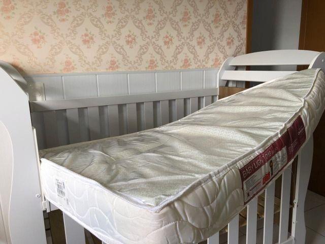 Berço mini cama Reller + colchão - Foto 6