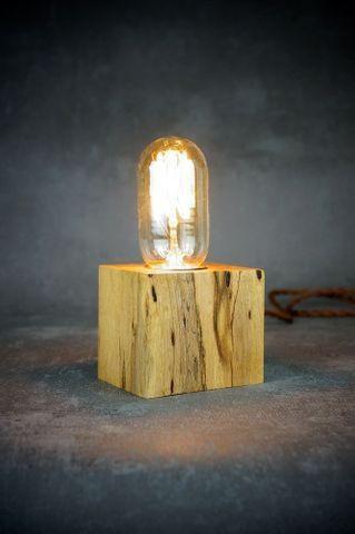Luminária de mesa - em cubo ou tábua rústica  - Foto 5