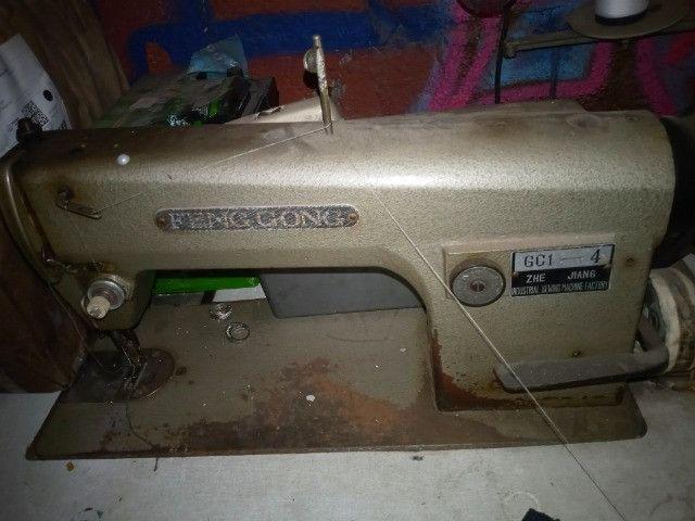 Maquina de costura reta industrial feng gong funcionando bem - Foto 4