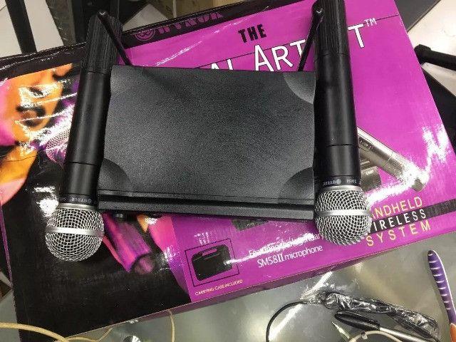 Microfone Sem Fio Uhf Wvngr Sm 58 Bivolt Igreja - Foto 6