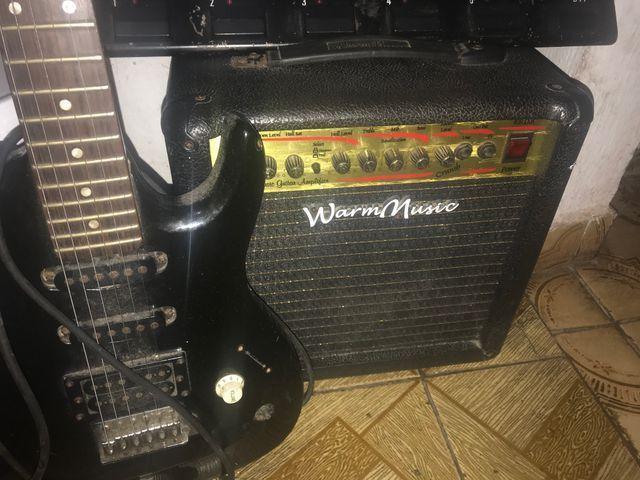 Guitarra caixa e pedaleira - Foto 4