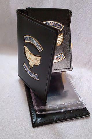 Carteira em couro da Aeronáutica (emblema) - Foto 2