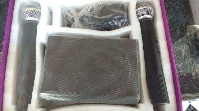 Microfone Sem Fio Uhf Wvngr Sm 58 Bivolt Igreja - Foto 5