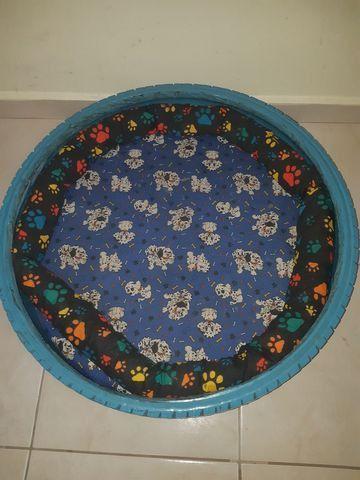 BAIXEI PRA VENDER :Cama de cachorro No pneu - Foto 3