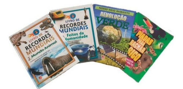 Kit 4 livros infantis: Recordes Mundiais - 2, Revolução Verde e Piadas para Rachar o Bico