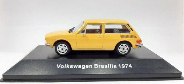 Miniatura Vw Collection VW Brasília 1974 + Fascículo
