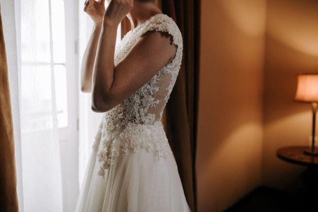 Vestido de Noiva Stephanie Cachapuz em Pérolas - Foto 2