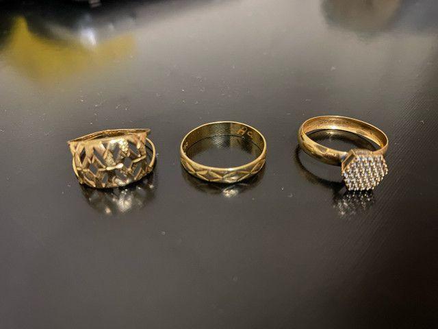 Anéis em ouro 18k - Foto 3