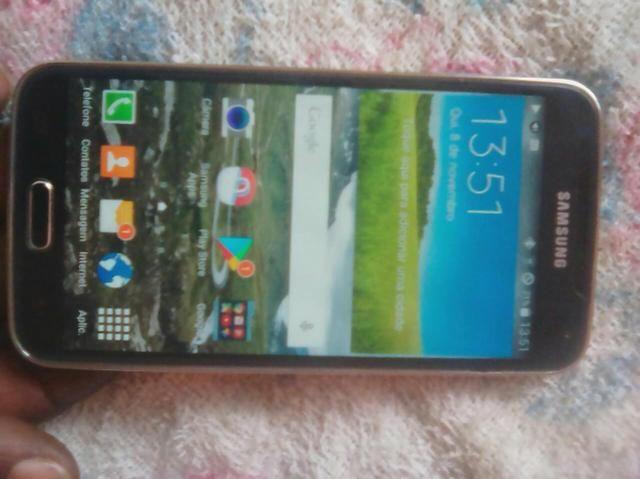 Sansung s5 16 GB 4G biometria todo bom sem marcas de uso