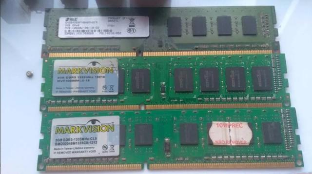 Memoria ram ddr3 4gb 1333mhz (2 pentes) usados