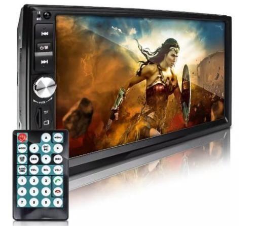 Multimidia Automotivo Bluetootoh Mp3 Mp5 Usb Player Tela 7 pol 2 dim universal