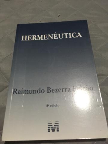 Livro hermenêutica