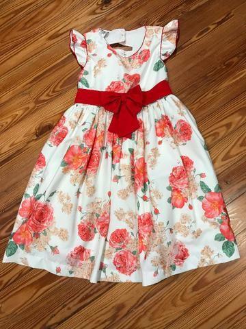 Vestido de Festa Infantil Tamanho 4 Excelente