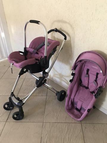 Kit carrinho e bebê conforto Kiddo - Foto 3