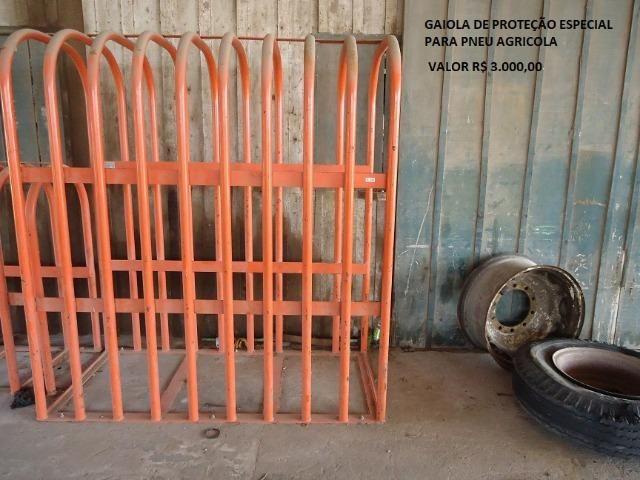 Gaiola de Proteção Especial para Pneu Agrícola