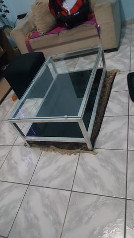 Mesa de centro de vidro semi nova - Foto 3