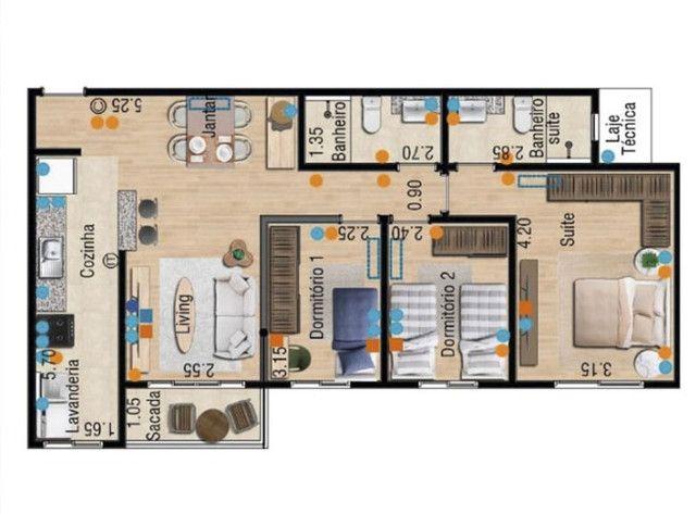 Apartamento 88m² 3q 1suíte Novíssimo - Foto 16