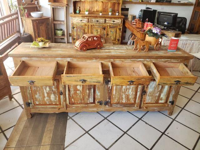 Buffet Com Patina 4 Portas De Demolição 2,00 m - Foto 6