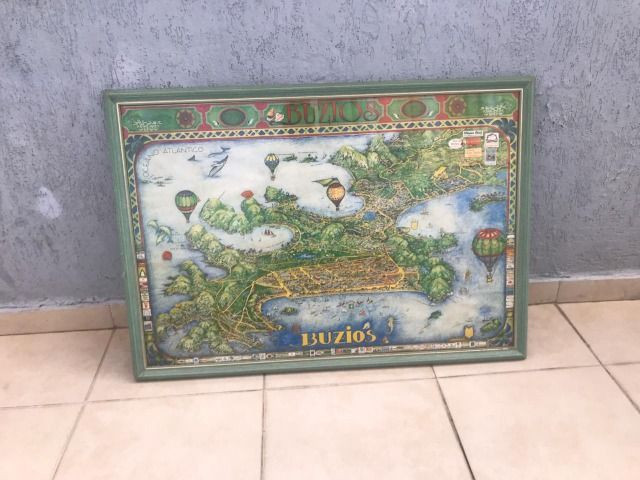 Quadro antigo com o mapa da regiao de buzios - Foto 3