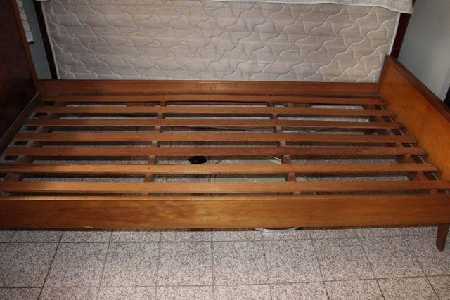 Cama de Solteiro em MDF Marrom 88cm x 95cm x 190cm - Foto 4