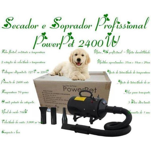 Secador e Soprador Profissional PowerPet 2400W com Frete Grátis para Sul e Sudeste! - Foto 3