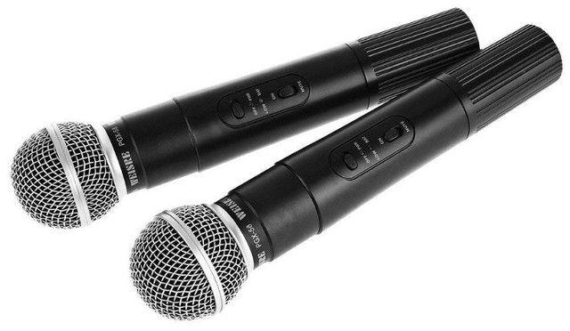 Microfone Sem Fio Uhf Wvngr Sm 58 Bivolt Igreja - Foto 3