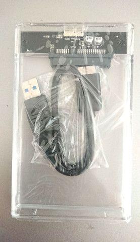 Case Transparente USB 3.0 para HD E SSD