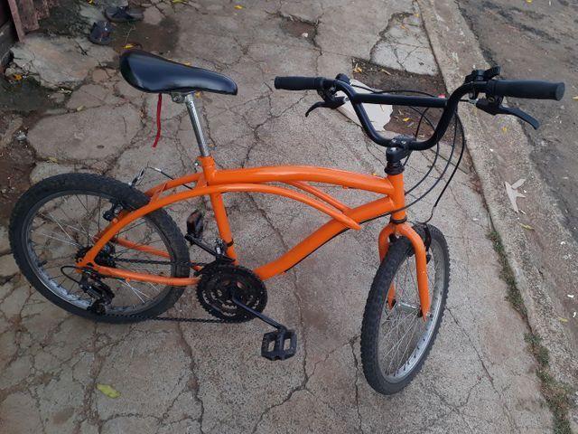 Vendo Bicicleta Nova Só Está Suja aceito Proposta Celular  - Foto 3