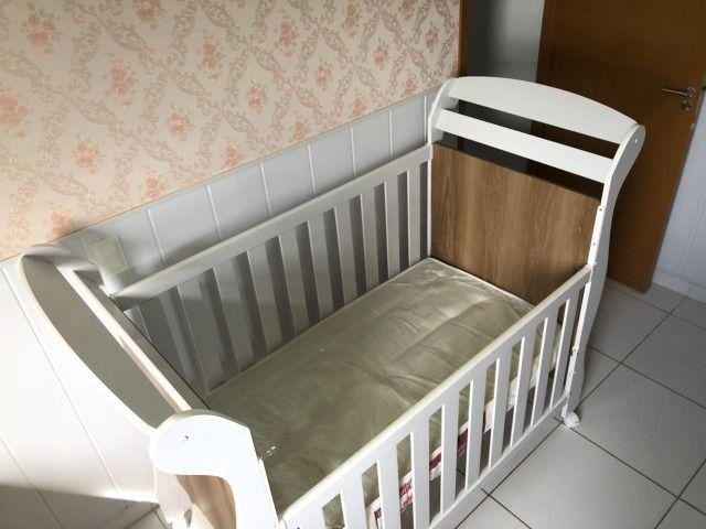 Berço mini cama Reller + colchão - Foto 5