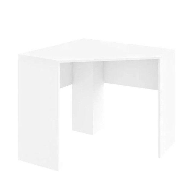 Mesa de Canto para Computador 90x90cm Branco Fosco - Foto 4