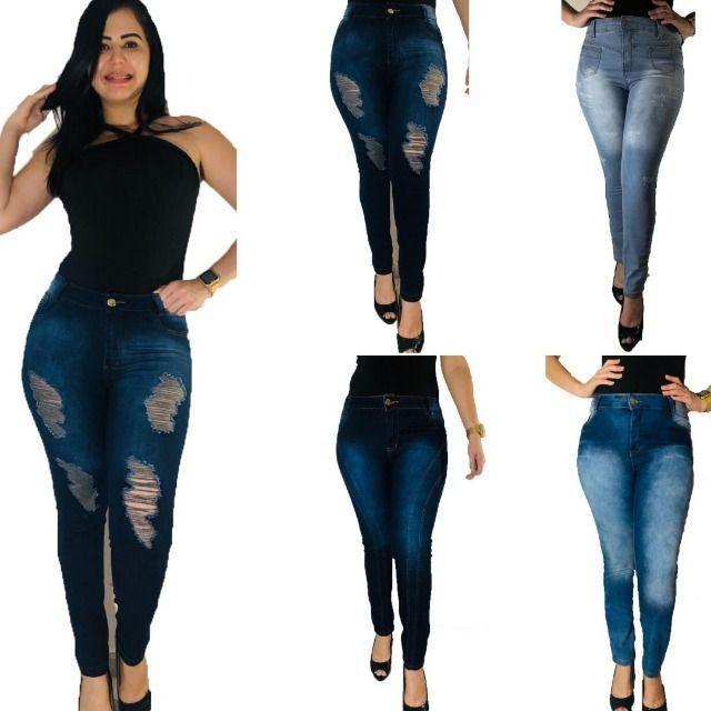 Kit 5 calças Jeans femininas- Para revenda - Foto 6