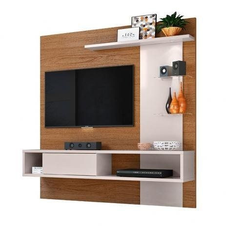 Painel tv com led , vidro temperado e bancada